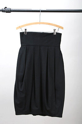 H&M - NWT Recycled Wool High Waisted Bubble Skirt w/ Pockets - Black 4