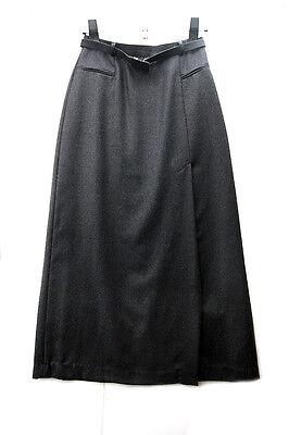 Woolmark maxi falda pura lana virgen 100% n dark  grey size 44 made in Italy. segunda mano  Alfafar