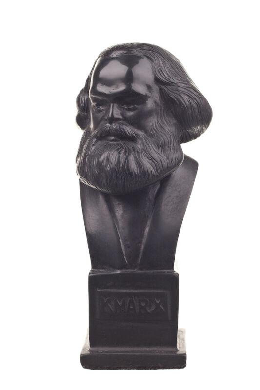 German Philosopher / Socialist Karl Marx stone Statue / Bust 4.9
