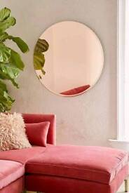BRAND NEW Copper / Rose Gold tinted round mirror.