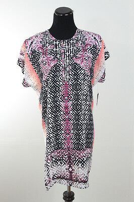Nwt Zozo Woman Scroll Print Multi Color Tunic Sz Xl  148 Dillards