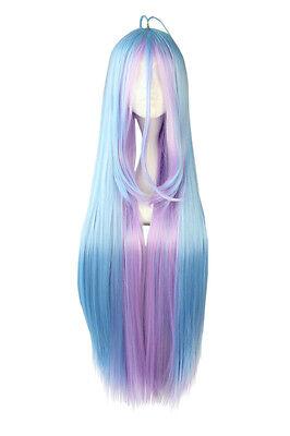 lay Damen Perücke wig von Shiro Türkis Lila lang glatt Japan (Türkis Perücke)
