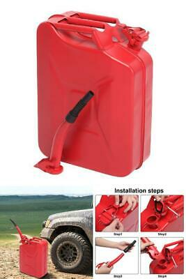 20l Portable American Fuel Oil Water Petrol Diesel Storage Can Steel Jerry Cans