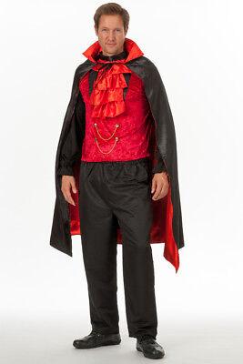 3 tlg Herren Dracula Vampir Kostüm Teufel Dämon Halloween (Halloween Dracula)