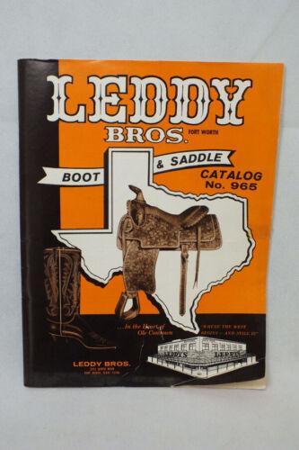 Original Vtg 1950s Leddy Brothers Boot & Saddle Catalog Ft Worth Texas Leather