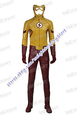 Flash Wally West Cosplay Costume Halloween Outfit Uniform (Flash Outfit)