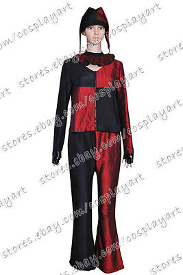 Batman Harley Quinn Cosplay Costume Red Uniform Dress Outfits Comfortable](Easy Batman Costume)