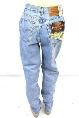 NEW vintage light wash LEVIS 512 red tab slim fit tapered jeans USA juniors 15 M