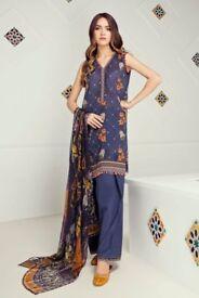 Baroque Fuchsia Lawn Pakistani Suit