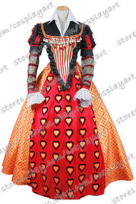 Alice In Wonderland 2010 Queen Of Hearts Dress Cosplay Costume Outfits