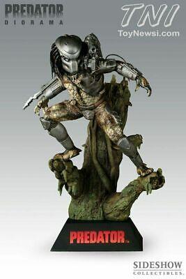 Predator Diorama Statue  Item # 9107 By Sideshow New - Rare