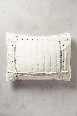 NEW Anthropologie Pillow Shams Turi Standard Queen Ivory Set of 2 Cotton Linen