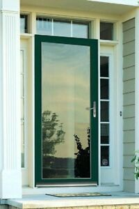 LARSON Green Full-View Aluminum Standard Storm Door.