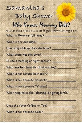 12 Personalized - Who Knows Mommy Best - Baby Shower Game - Dr. Seuss and - Best Baby Shower