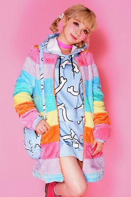 Harajuku Kawaii ☆galaxxxy☆  rainbow fur coat