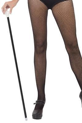ADULT UNISEX BLACK 20s STYLE DANCE CANE MENS LADIES CHARLESTON FANCY DRESS STICK (20 S Style Dance Kostüme)