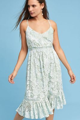 Size M Anthropologie Hemant & Nandita Velvet Metallic Seagrass Dress