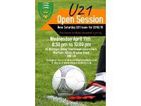 Free Football Session New U21 Team - Chingford Athletic