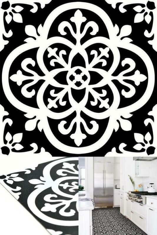 FloorPops Gothic Peel And Stick Floor Tiles 10 Tiles/10 Sq. Ft. Regular Black
