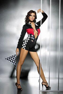 Box Kostüm (Boxenluder F 1 Formel Overall Grid Girl Rennfahrerin Kostüm Wäschebeutel)