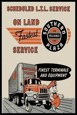 Southern Plaza Truck Line Fridge Magnet
