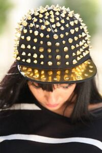 Gold spiked SnapBack hat