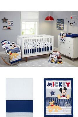 Nursery Sets For Boys Baby Disney Crib Bedding Mickey Mouse Comforter Sheet 4 -