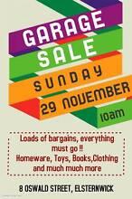 Huge Garage Sale- 10am Sunday 29/11- 8 Oswald Street, Elsternwick Elsternwick Glen Eira Area Preview