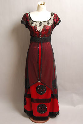 Titanic Rose Evening Ball Gown Party Dress Jump Victorian Halloween Costume
