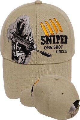 SNIPER Ball Cap Navy SEAL Army 11B B4 SWAT USMC 0317 8541 GHILLIE SUIT Hat SAND (Ball Cap Navy)