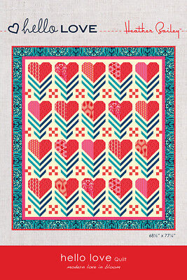 Quilt Pattern ~ HELLO LOVE ~ by Heather Bailey