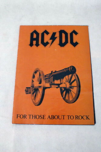 Vtg  AC/DC For Those About To Rock Huge Album Cover Poster Fold Out Rock & Roll