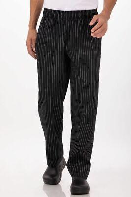 Chef Works Pinstripe Designer Chef Pants Pinb-000-2xl Black Nwt 2x