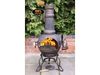 Toledo Large Cast Iron Chimenea - FREE DELIVERY UK