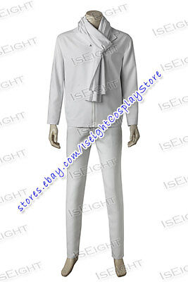 Despicable Me 3 Gru Cosplay Costume White Jacket and Scarf Full Set Uniform (Gru Costume Scarf)