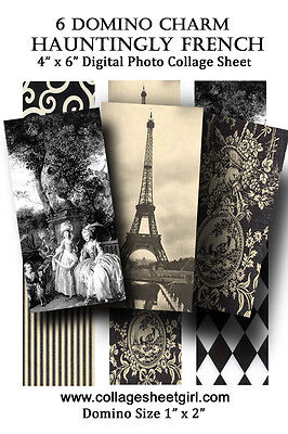Domino Tile Collage Sheet Hauntingly French Images and Photos (Art Images Collage Sheet)