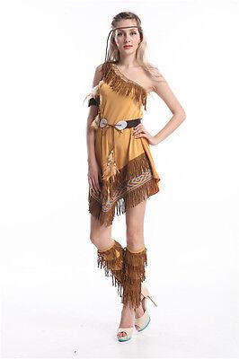 stume Fairytale Fancy Dress UK Sizes 6/8/10/12/14/16/18 (Pocahontas Fancy Dress Kostüm)