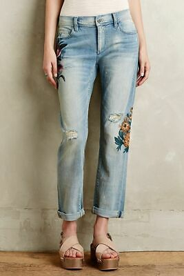 """$268 NWT Anthropologie Sz29 W32""""/33"""" Pilcro Hyphen Rosegarden Jeans Floral Art"""