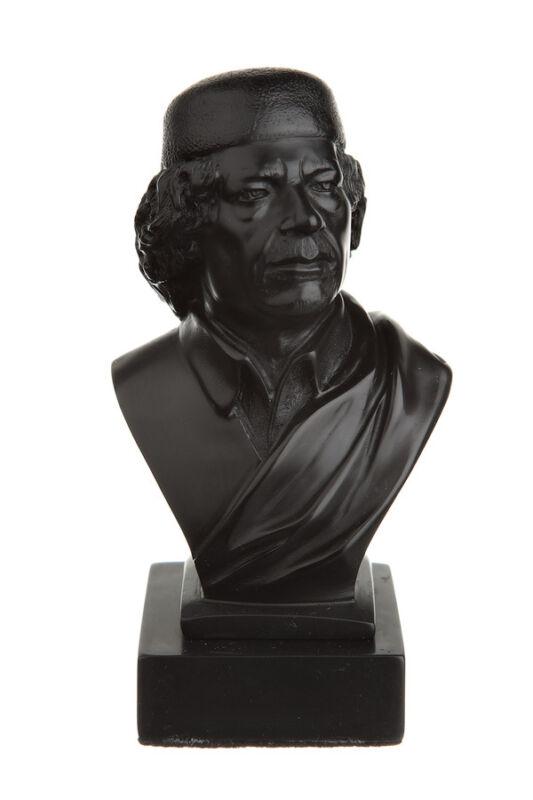 Libyan Revolutionary Colonel Muammar Gaddafi Stone Bust / Statue 4.7