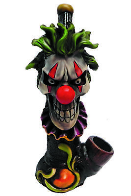 Scary Clown Handmade Tobacco Smoking Hand Pipe Halloween Evil Creep Circus Freak