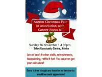Antrim Christmas Fair with Cancer Focus NI