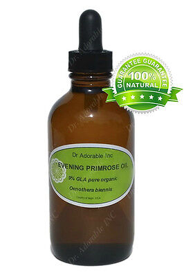 (4 oz Glass Bottle with Glass Dropper Evening Primrose Oil Skin Care Hair Health )