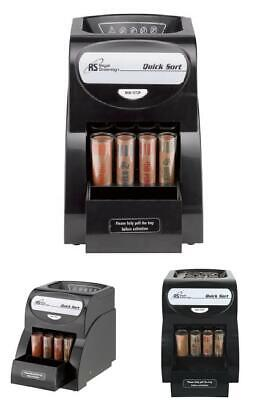 Electric Automatic Coin Change Counter Sorter Counting Machine W Anti-jam Roll