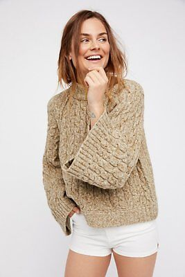 NWT FREE PEOPLE SNOW BIRD PULLOVER SWEATER SIZE XS XSMALL $148 MOSS
