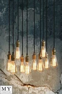 Thibault - Industrial Vintage Pendant Retro Chandelier Light - Bulbs included  eBay