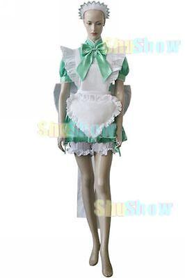 Tokyo Mew Mew Lettuce Maid Cosplay costume Dress Shorts Hair Hoop Halloween  - Halloween Maid Hair