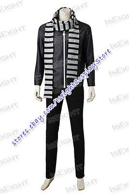 Despicable Me 3 Gru Cosplay Costume Black Suit Full Set Uniform Halloween Party (Gru Halloween Costume)