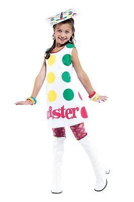 GIRLS TWISTER GAME FUN COSTUME DRESS NEW PM83956 - Girls Twister Costume