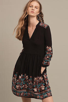 Nwt Anthropologie Floreat Embroidered Avery Dress Sz Xxsp Xs And L