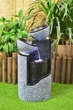 Solar Stone look Pillar and Bowls Water Feature Fountain LED ligh Athelstone Campbelltown Area Preview